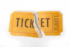Torn retro ticket Royalty Free Stock Photos