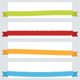 Torn ribbon banners Royalty Free Stock Photography