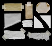Torn rip paper. Pieces of torn rip paper texture background, with space for text Royalty Free Stock Photo