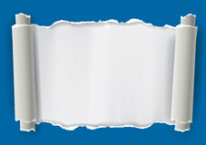 Torn rolled paper background. Stock Images