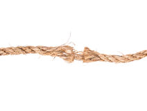Torn rope Stock Image