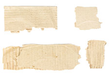 Torn scraps from cardboard box with copy-space isolated Royalty Free Stock Photo