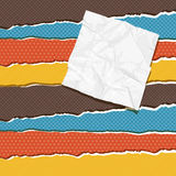 Torn scratch paper vintage background. Vector Royalty Free Stock Photos