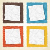 Torn scratch paper vintage background. Vector Stock Photos