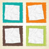 Torn scratch paper vintage background. Vector Royalty Free Stock Photo