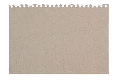 Torn Sheet of Paper From recycled paper Stock Photography