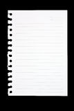Torn Sheet of Paper From Spiral Notebook royalty free stock photography