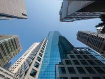 Torn som bygger Singapore Royaltyfri Foto