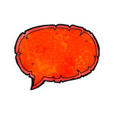 Torn speech bubble cartoon. Retro cartoon with texture. Isolated on White Royalty Free Stock Photography
