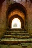 Torn Syrien för citadell för Krak des-Chevaliers Fotografering för Bildbyråer