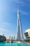 torn uae för burjdubai khalifa Arkivbilder
