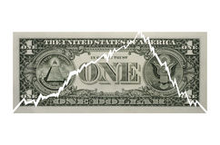 Torn US Dollar note, close-up Royalty Free Stock Photos