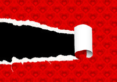 Torn Valentines Day Paper Royalty Free Stock Photo