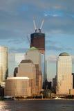 torn w york för i stadens centrum frihet för stad nytt Arkivbild