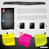 Torn website with labels vector illustration