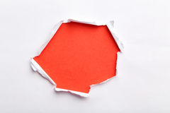 Torn white paper. For text, close up stock image