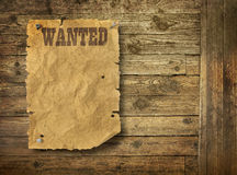Torn Wild West wanted poster