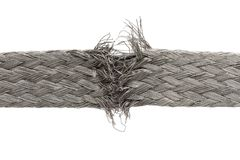 Torn wire isolated Stock Photography