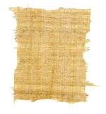 Torn Yellow Brown Papyrus Paper Royalty Free Stock Image