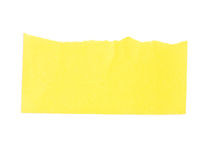 Torn Yellow Paper Banner. Stock Photography