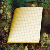 Torn yellow sheet Royalty Free Stock Images