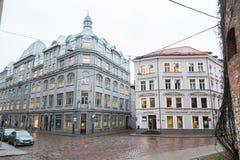 Torna Iela i Riga den gamla staden royaltyfria foton