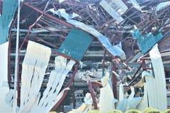 Tornada Floryda Michael Huraganowy zniszczenie niszczył molo doki zacierających obrazy stock