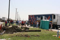 Tornade dans Joplin MOIS Sun le 22 mai 2011 Image stock