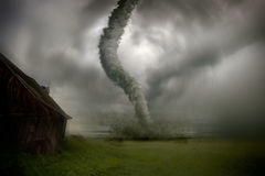 Tornade de approche Photos stock
