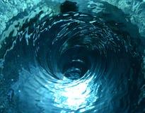 Tornade de l'eau bleue Photo libre de droits