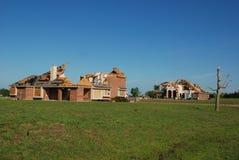 Tornade du Texas - maisons détruites Image stock