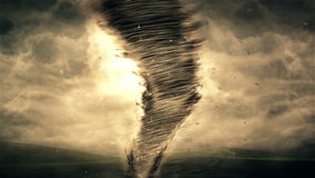Tornade et animation de la tempête 4K banque de vidéos