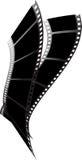 Tornade noire de film Images libres de droits