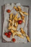 Tornades et tomates de pain de fromage Image libre de droits