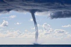 Tornadi sopra il mar Mediterraneo Fotografia Stock