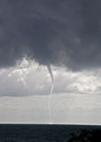 Tornado. Over sea in the Black sea Stock Image