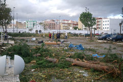 After the tornado. The town of Silves (Portugal), hit by a tornado on Nov. 16th 2012 Royalty Free Stock Images