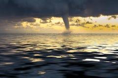 Tornado. Waterspout off the coast of Liguria Stock Photos