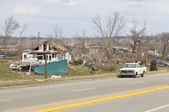 Tornado aftermath in Henryville, Indiana Royalty Free Stock Image