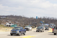 Tornado aftermath in Henryville, Indiana Stock Photo
