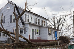 Tornado aftermath in Henryville, Indiana Stock Image