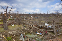 Tornado aftermath in Henryville, Indiana. Henryville, IN – March 4, 2012: Aftermath of category 4 tornado that touched down in town on March 2, 2012 in Stock Images