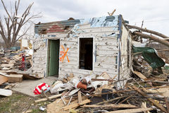 Tornado aftermath in Henryville, Indiana Stock Photos