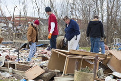 Tornado aftermath in Henryville, Indiana. Henryville, IN – March 4, 2012: Aftermath of category 4 tornado that touched down in town on March 2, 2012 in Stock Photography