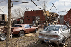 Tornado aftermath in Henryville, Indiana. Henryville, IN - March 4, 2012: Aftermath of category 4 tornado that touched down in town on March 2, 2012 in Royalty Free Stock Images