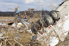 Tornado aftermath in Henryville, Indiana. Henryville, IN - March 4, 2012: Aftermath of category 4 tornado that touched down in town on March 2, 2012 in Stock Image