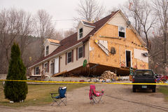 Tornado aftermath in Lapeer, MI. Stock Photos