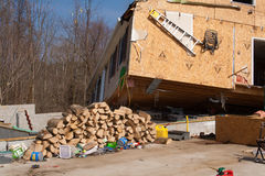Tornado aftermath in Lapeer, MI. Royalty Free Stock Image