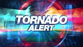 Tornado-Alarm - Sendung Fernsehgraphiken betiteln lizenzfreie abbildung