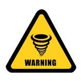 Tornado alert signal vector Royalty Free Stock Image